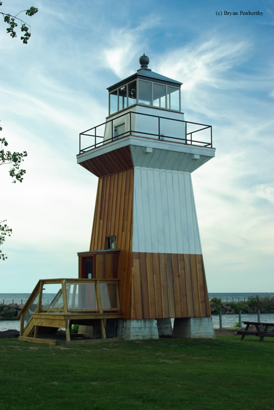 Photo of the Oak Orchard (Replica) Lighthouse.