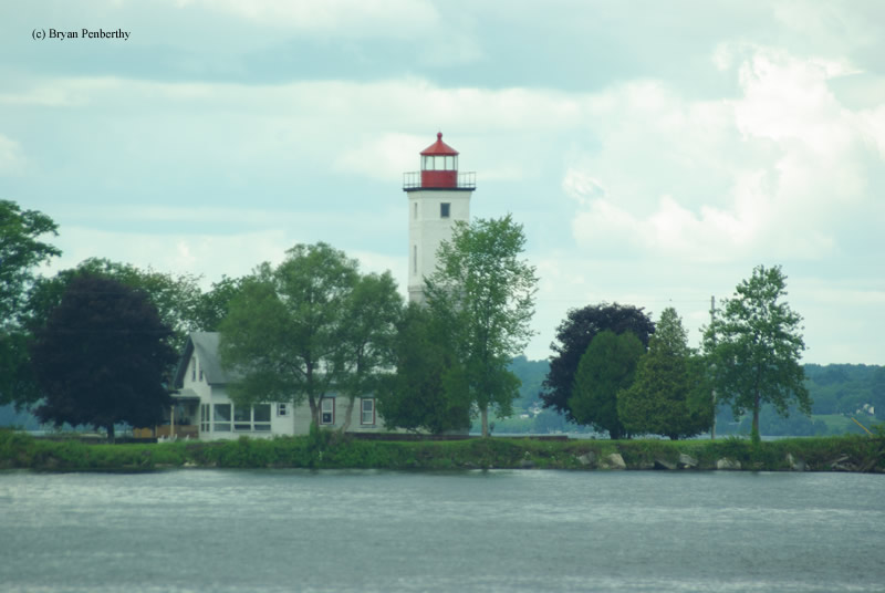 Photo of the Ogdensburg Harbor Lighthouse.