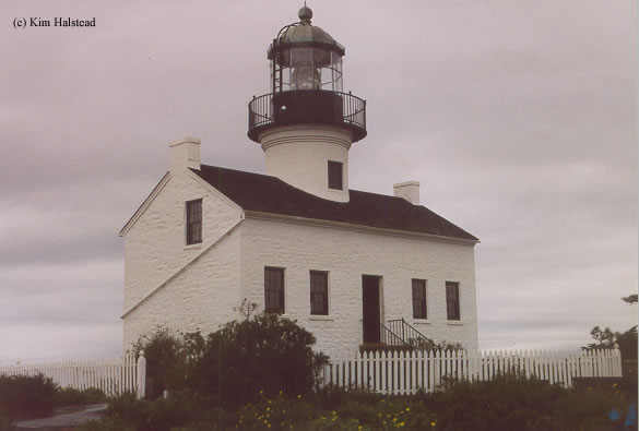 Photo of the Old Point Loma Lighthouse.