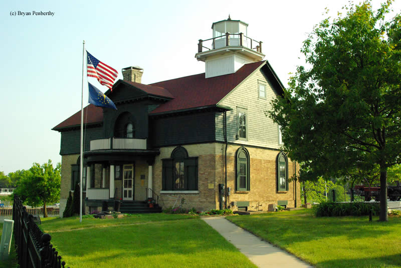 Photo of the Old Michigan City Lighthouse.