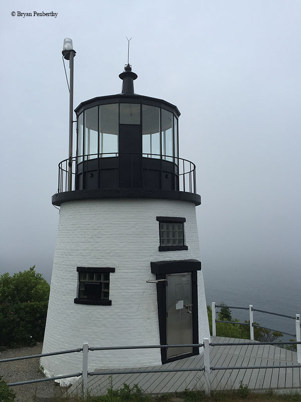 Photo of the Owls Head Lighthouse.