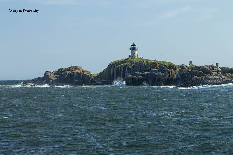 Photo of the Pond Island Lighthouse.