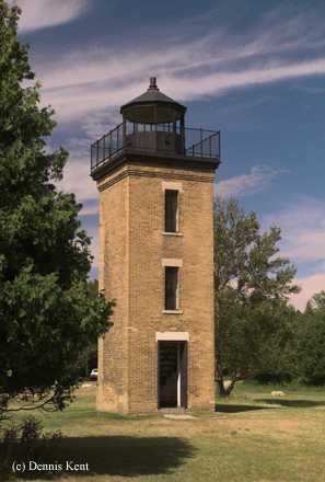 Photo of the Peninsula Point Lighthouse.