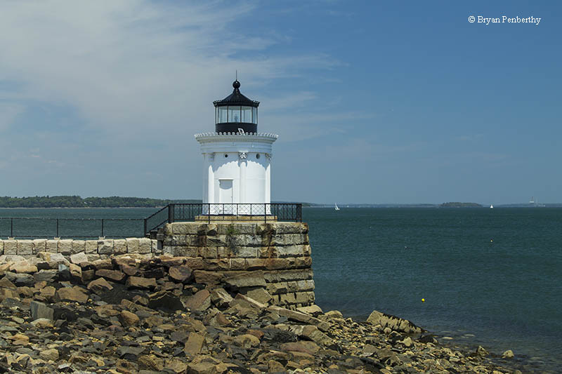 Photo of the Portland Breakwater Lighthouse.