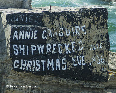 Photo of the shipwreck rock - Annie C. Maguire