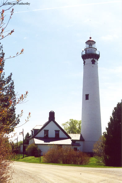 Photo of the New Presque Isle Lighthouse.