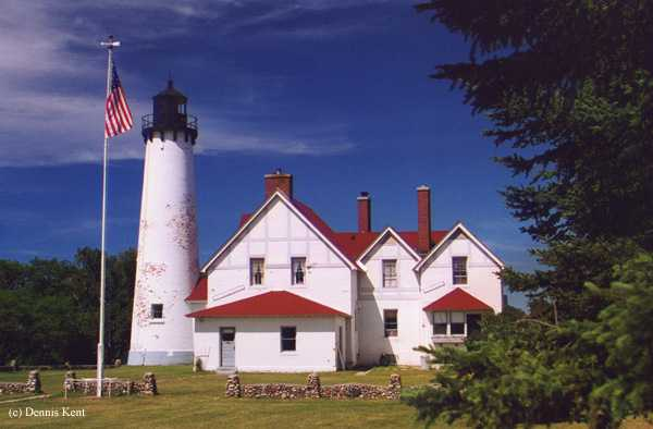 Photo of the Point Iroquois Lighthouse.