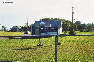 Distance shot of the lightstation sign.