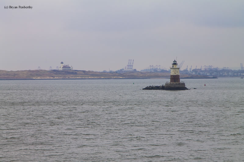 Photo of the Robbins Reef Lighthouse.