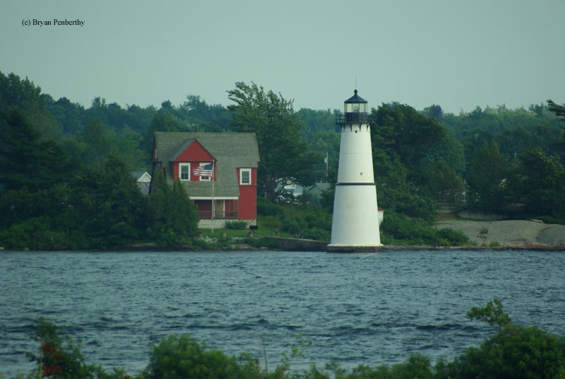 Photo of the Rock Island Lighthouse.