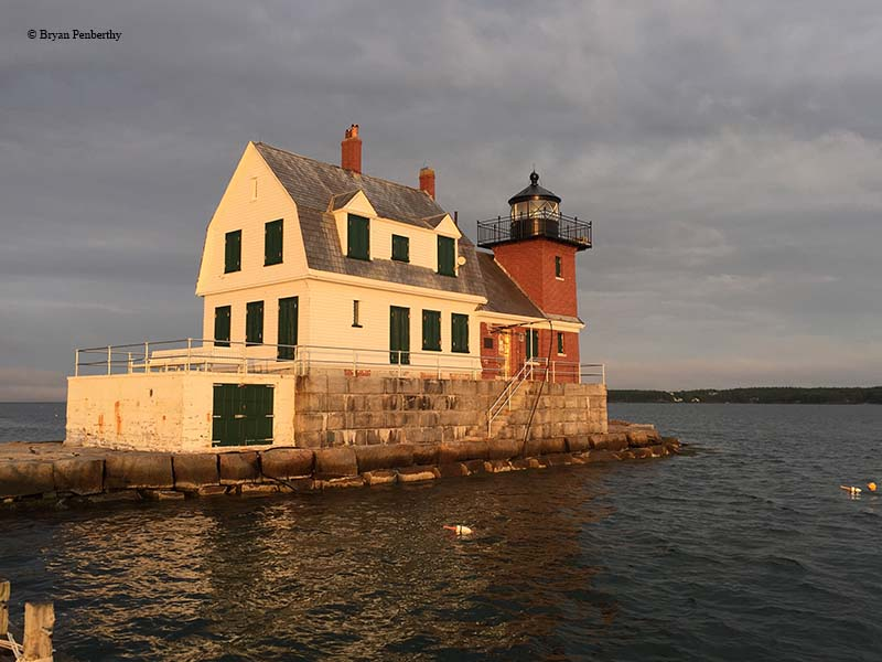 Photo of the Rockland Breakwater Lighthouse.