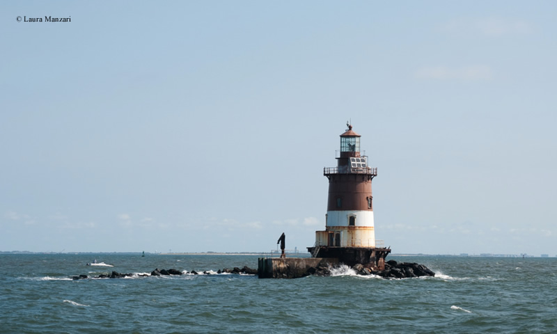 Photo of the Romer Shoal Lighthouse.