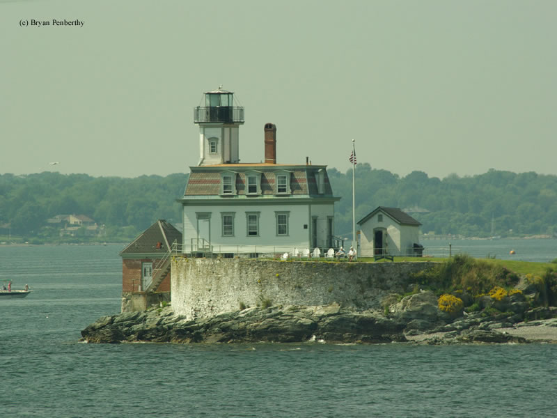 Photo of the Rose Island Lighthouse.