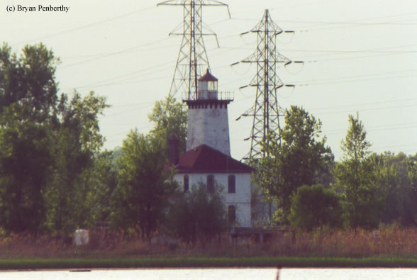 Photo of the Saginaw River Rear Range Lighthouse.
