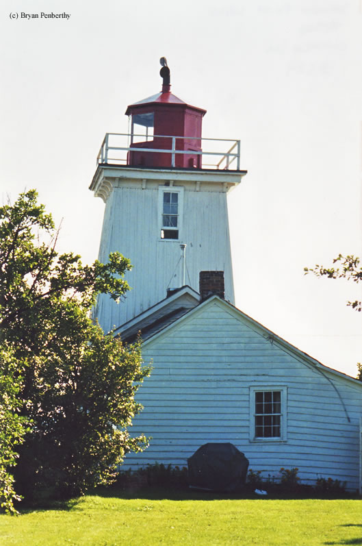 Photo of the Salmon Point Lighthouse.