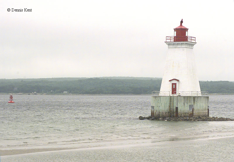 Photo of the Sandy Point Lighthouse.