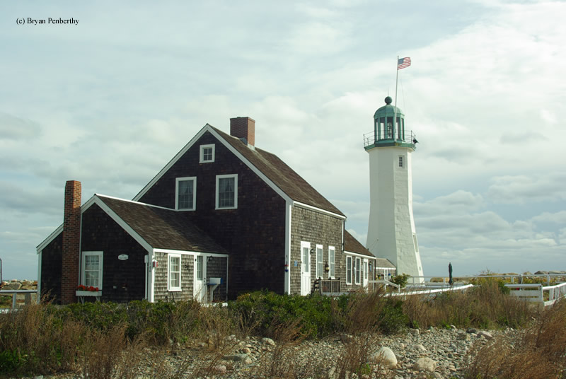 Photo of the Scituate Lighthouse.
