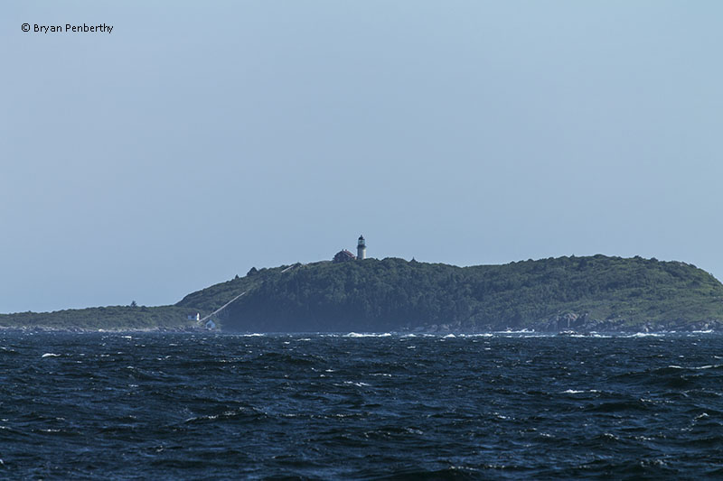 Photo of the Seguin Island Lighthouse.