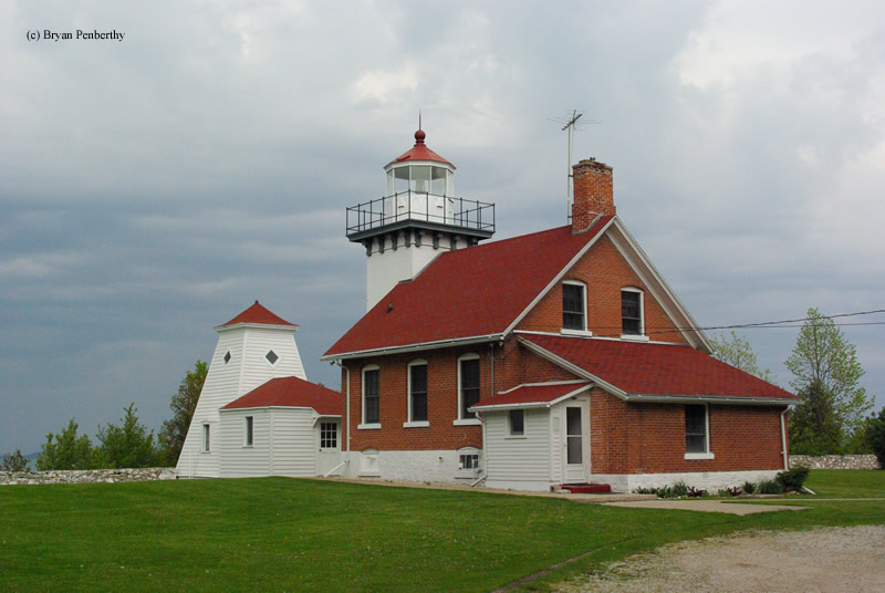 Photo of the Sherwood Point Lighthouse.