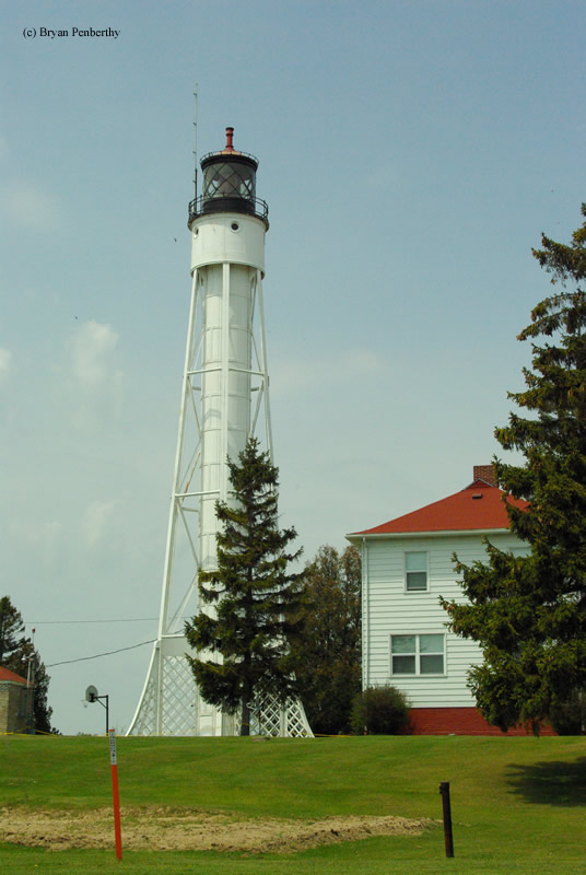 Photo of the Sturgeon Bay Ship Canal Lighthouse.