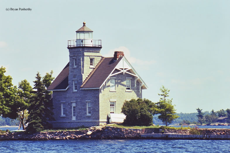 Photo of the Sisters Island Lighthouse.
