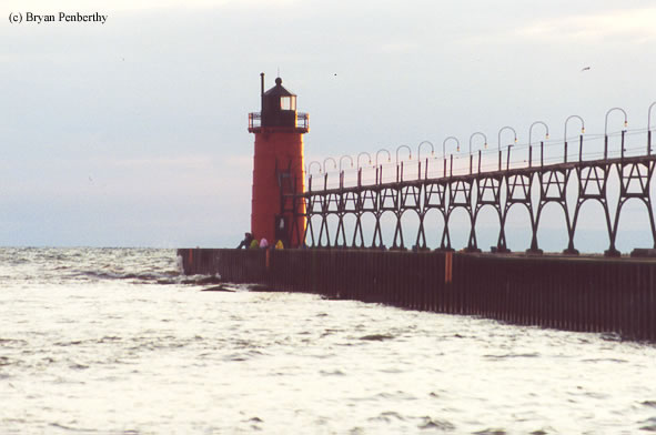 Photo of the South Haven Lighthouse.