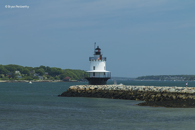 Photo of the Spring Point Ledge Lighthouse.