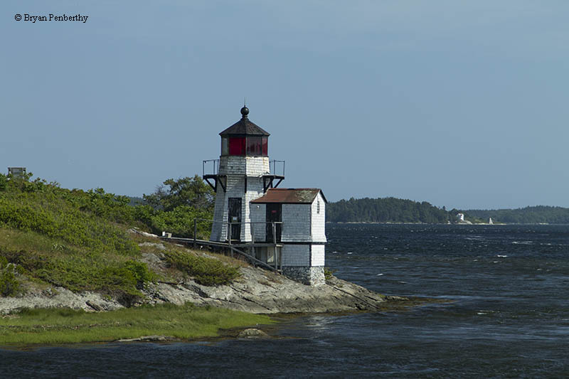 Photo of the Squirrel Point Lighthouse.