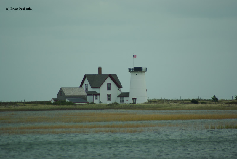 Photo of the Stage Harbor Lighthouse.