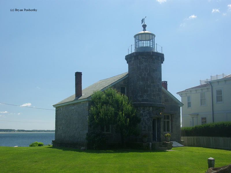 Photo of the Stonington Harbor Lighthouse.