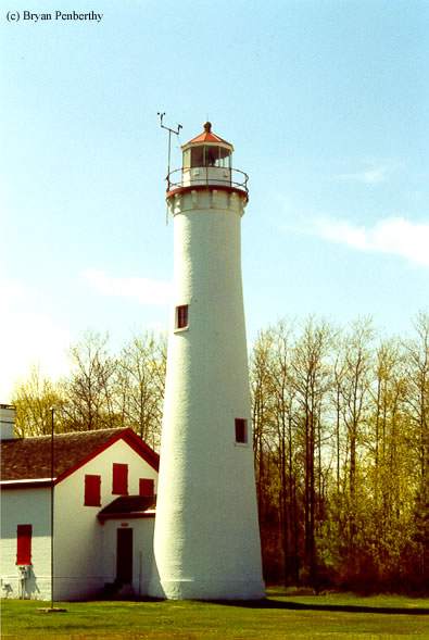 Photo of the Sturgeon Point Lighthouse.