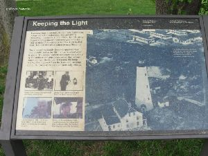 """Keeping The Light"" sign."