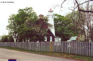 The lighthouse and keeper