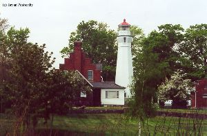 Beautiful shot of the lighthouse and quarters.