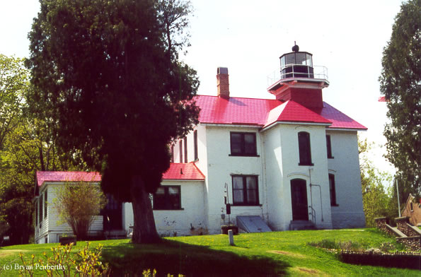 Photo of the Grand Traverse Lighthouse.