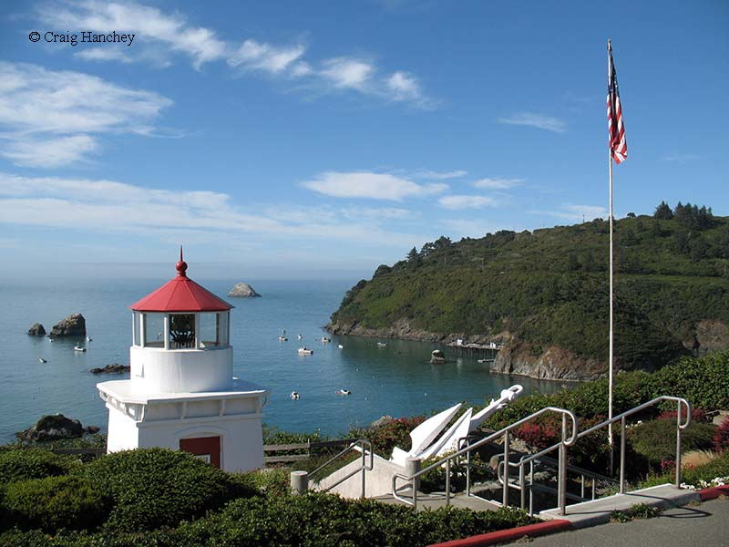Photo of the Trinidad Head Memorial Lighthouse.
