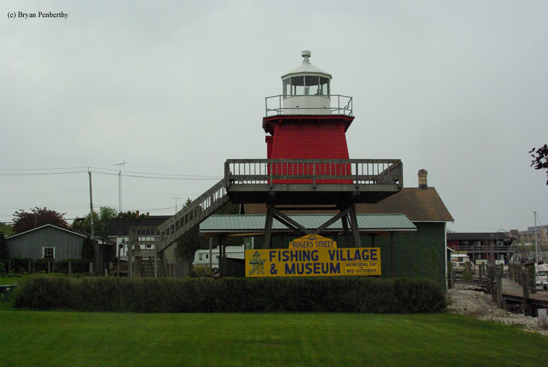 Photo of the Two Rivers Lighthouse.