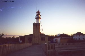 A distance shot of the lightstation.