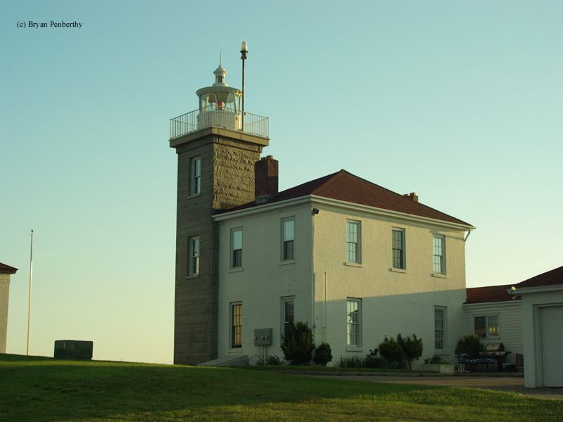 Photo of the Watch Hill Lighthouse.