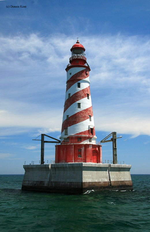 Photo of the White Shoal Lighthouse.