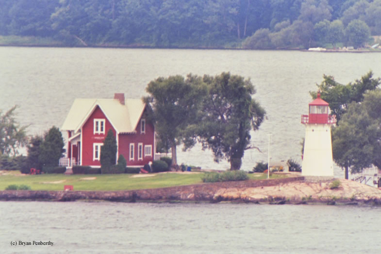 Photo of the Crossover Island Lighthouse.