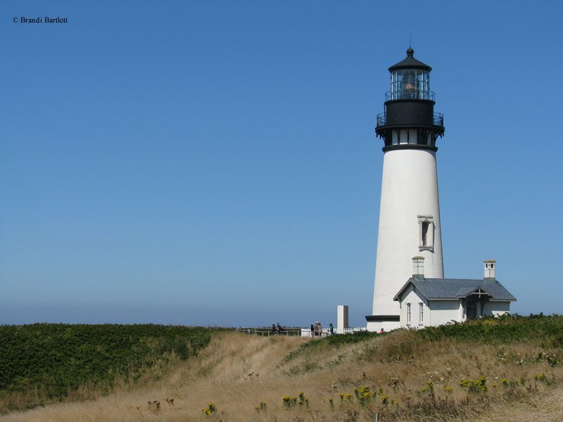 Photo of the Yaquina Head Lighthouse.